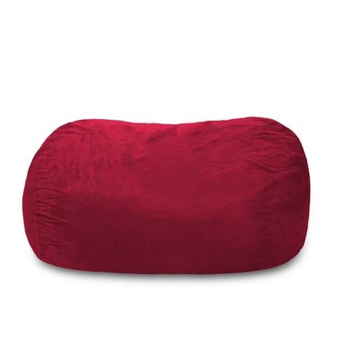 Enjoyable Large Memory Foam Bean Bag Lounger 6 Ft Cinnabar Relax Sacks Pabps2019 Chair Design Images Pabps2019Com