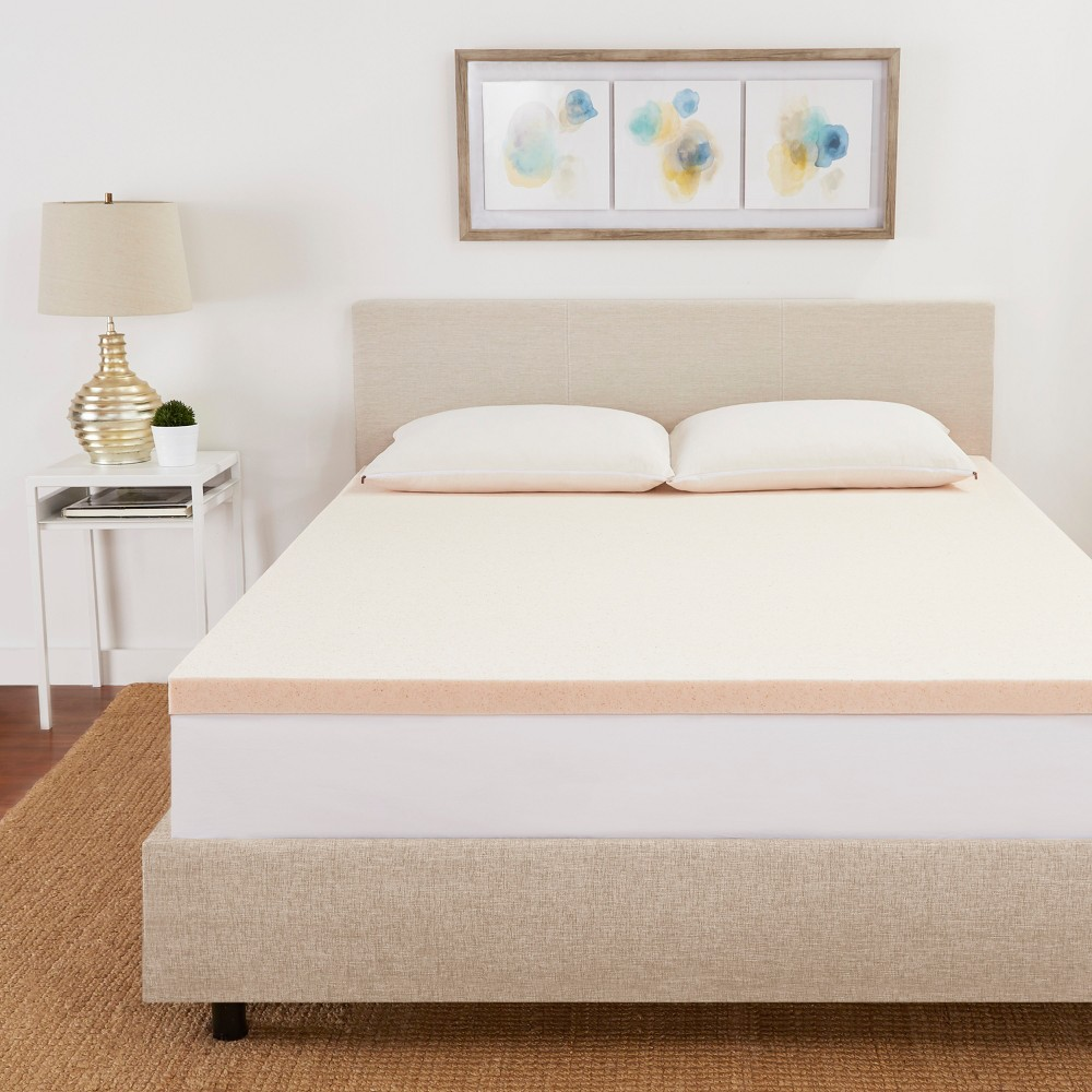 Image of California King 3 CopperFresh Gel Memory Foam Mattress Topper Beige - Sleep Studio