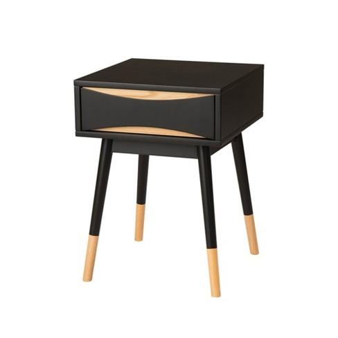 Modern Oslo End Table Espresso Brown - Glitzhome - image 1 of 6
