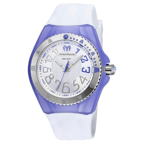 Women's Technomarine TM-115223 Cruise Original Quartz Silver and Purple Dial Strap Watch - White - image 1 of 1