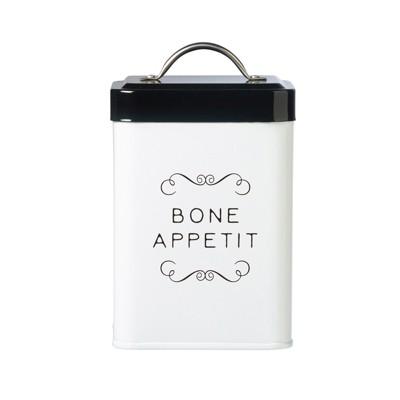 Amici Pet Sparky Metal Canister, Bone Appetit, 36oz