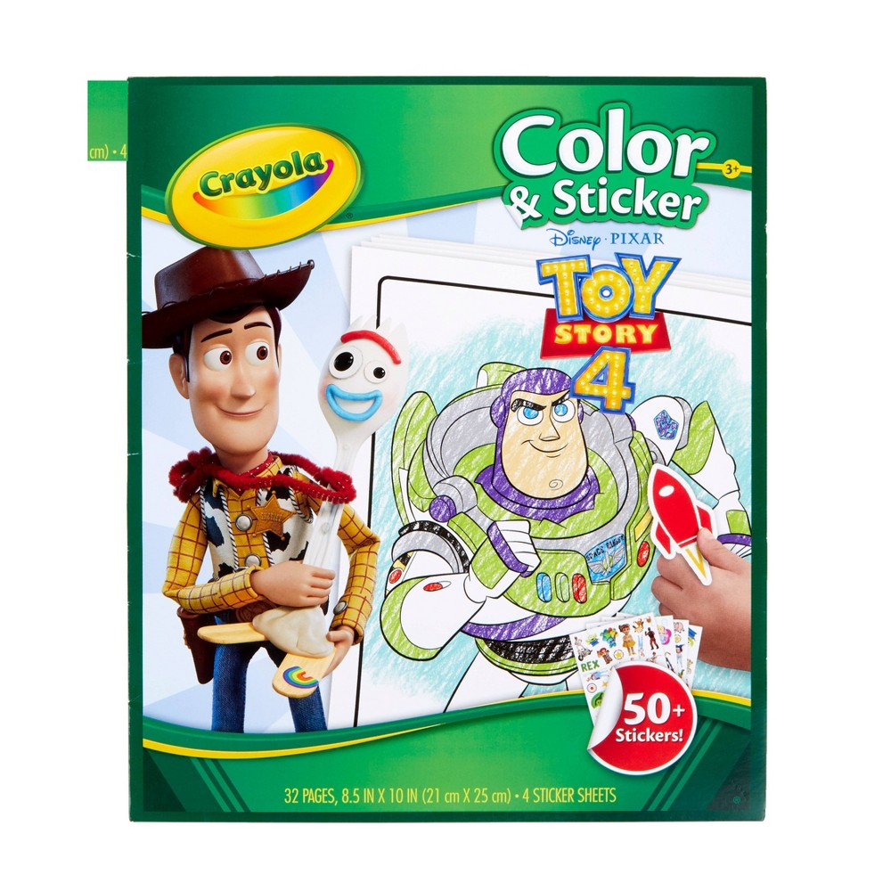 Image of Crayola 32pg Toy Story 4 Color & Sticker Book
