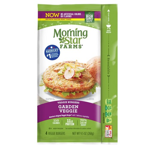 MorningStar Farms Garden Frozen Veggie Burger Patties - 4ct - image 1 of 2