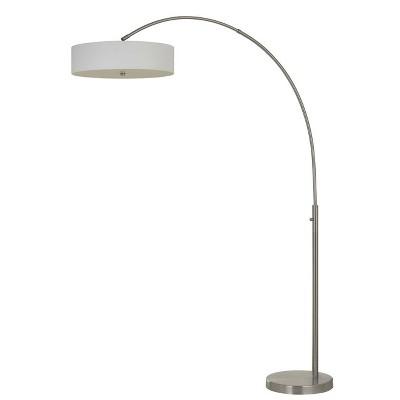 "61.5"" Metal Chardon Arc Floor Lamp (Includes LED Light Bulb) Brushed Steel - Cal Lighting"