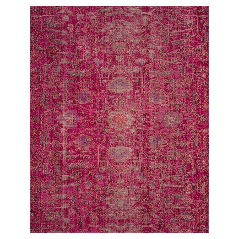 Fuchsia Medallion Loomed Area Rug 8'x10' - Safavieh, Pink