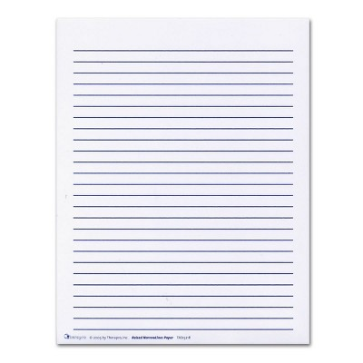 Kaplan Early Learning Wide Lined Raised Paper - 125 Pcs