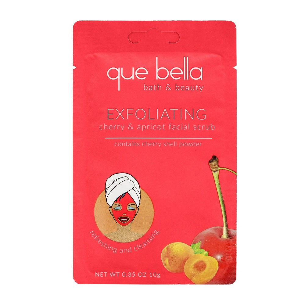 Image of Que Bella Cherry & Apricot Exfoliating Facial Scrub - 0.35oz