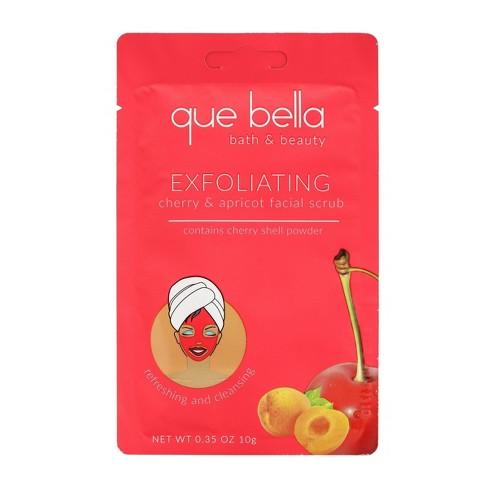 Que Bella Cherry & Apricot Exfoliating Facial Scrub - 0.35oz - image 1 of 3
