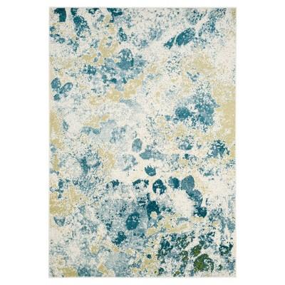 Ivory/Light Blue Splatter Loomed Area Rug 8'X10' - Safavieh