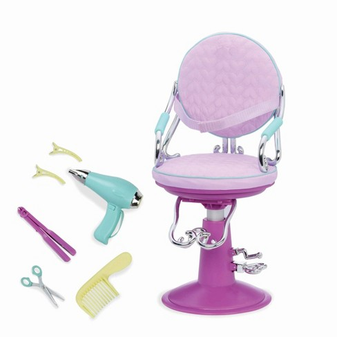 """Our Generation Hair Play Styling Accessory for 18"""" Dolls - Sitting Pretty Salon Chair - Lilac - image 1 of 4"""