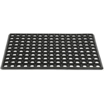 Juvale Black Rubber Welcome Door Mat Nonslip Indoor Outdoor Doormat (23.5 x 15.75 Inches)