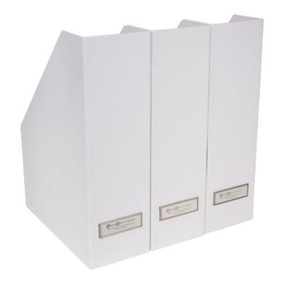 Set of 3 Viktoria Magazine File White - Bigso Box of Sweden