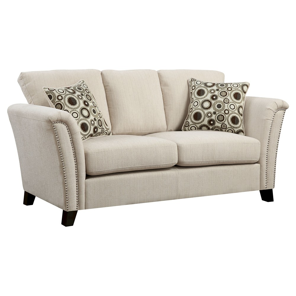 ioHomes Jocelyn Modern Style Love Seat Ivory