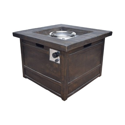 """Landman Square 32"""" Lightweight Concrete Gas Fire Pit - Natural - Christopher Knight Home"""