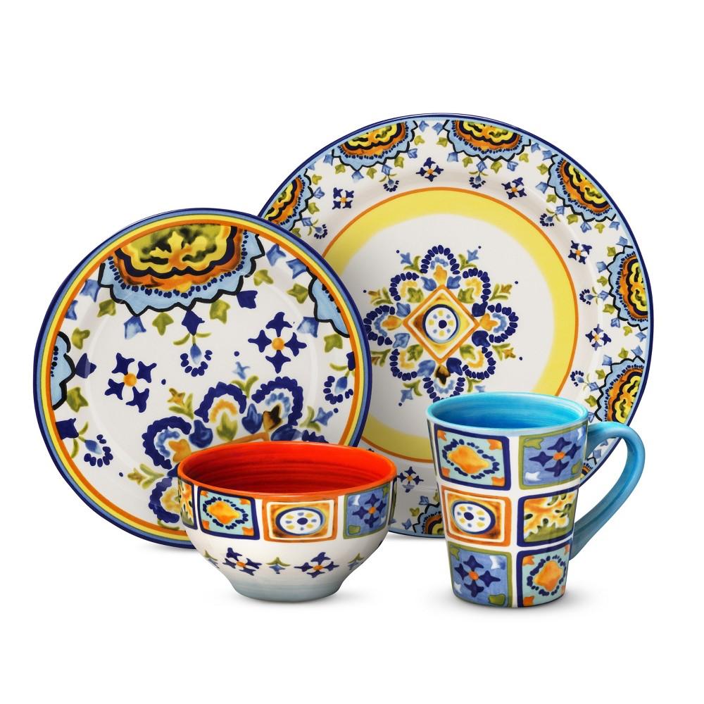 Image of Euro Ceramica Mumbai Earthenware 16pc Dinnerware Set