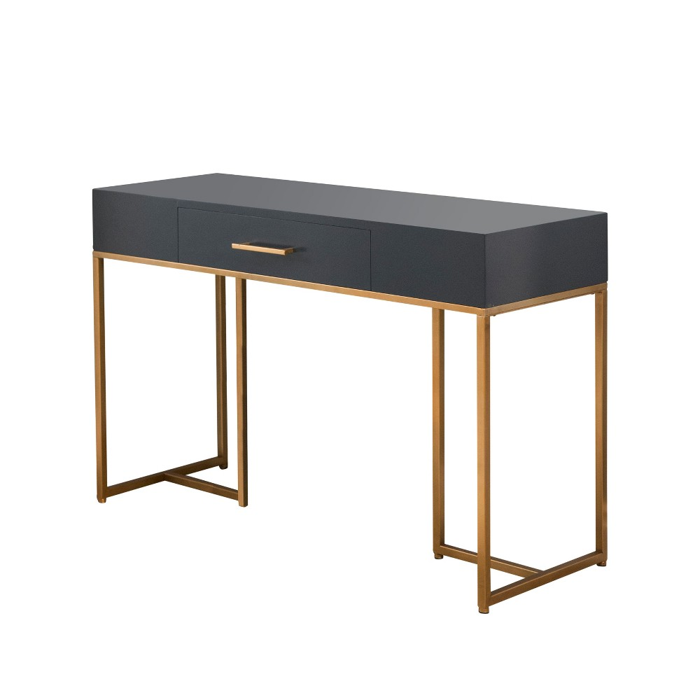 Harlow Charcoal Writing Desk Gray - Abbyson Living