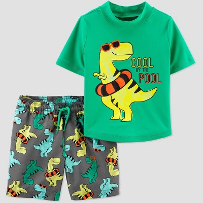 Baby Boys' Dino Swim Rash Guard Set - Just One You® made by carter's Green 3M