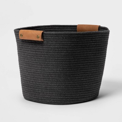 "13"" Medium Coiled Rope Warm Gray Charcoal - Threshold™"