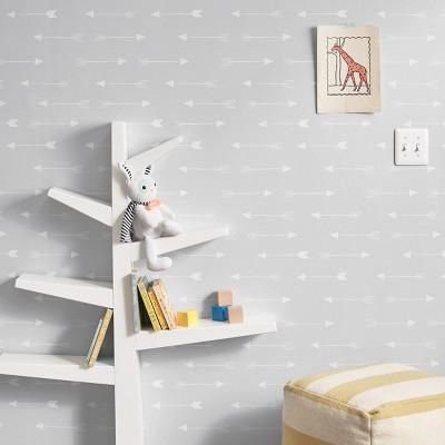 Peel & Stick Wallpaper Arrows Gray - Cloud Island™