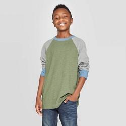 Boys' Long Sleeve T-Shirt - Cat & Jack™ Green