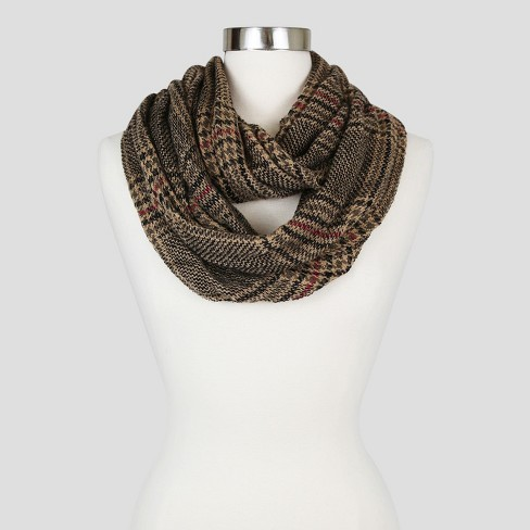Women's Sylvia Alexander Fashion Scarf - Taupe Plaid - image 1 of 2