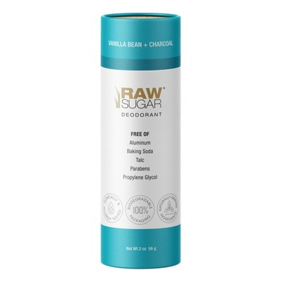 Raw Sugar Deodorant Vanilla Bean + Charcoal - 2 oz