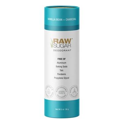 Raw Sugar Vanilla Bean + Charcoal Aluminum Free Deodorant - 2oz