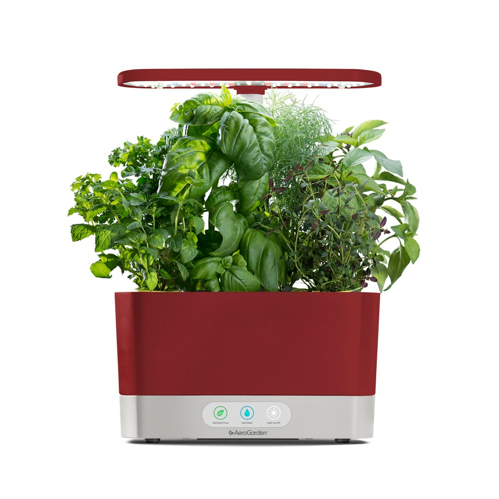 Image of AeroGarden Harvest with Gourmet Herbs 6-Pod Seed Kit - Red