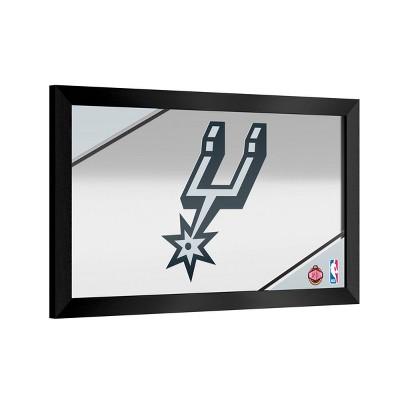 NBA San Antonio Spurs Team Logo Wall Mirror
