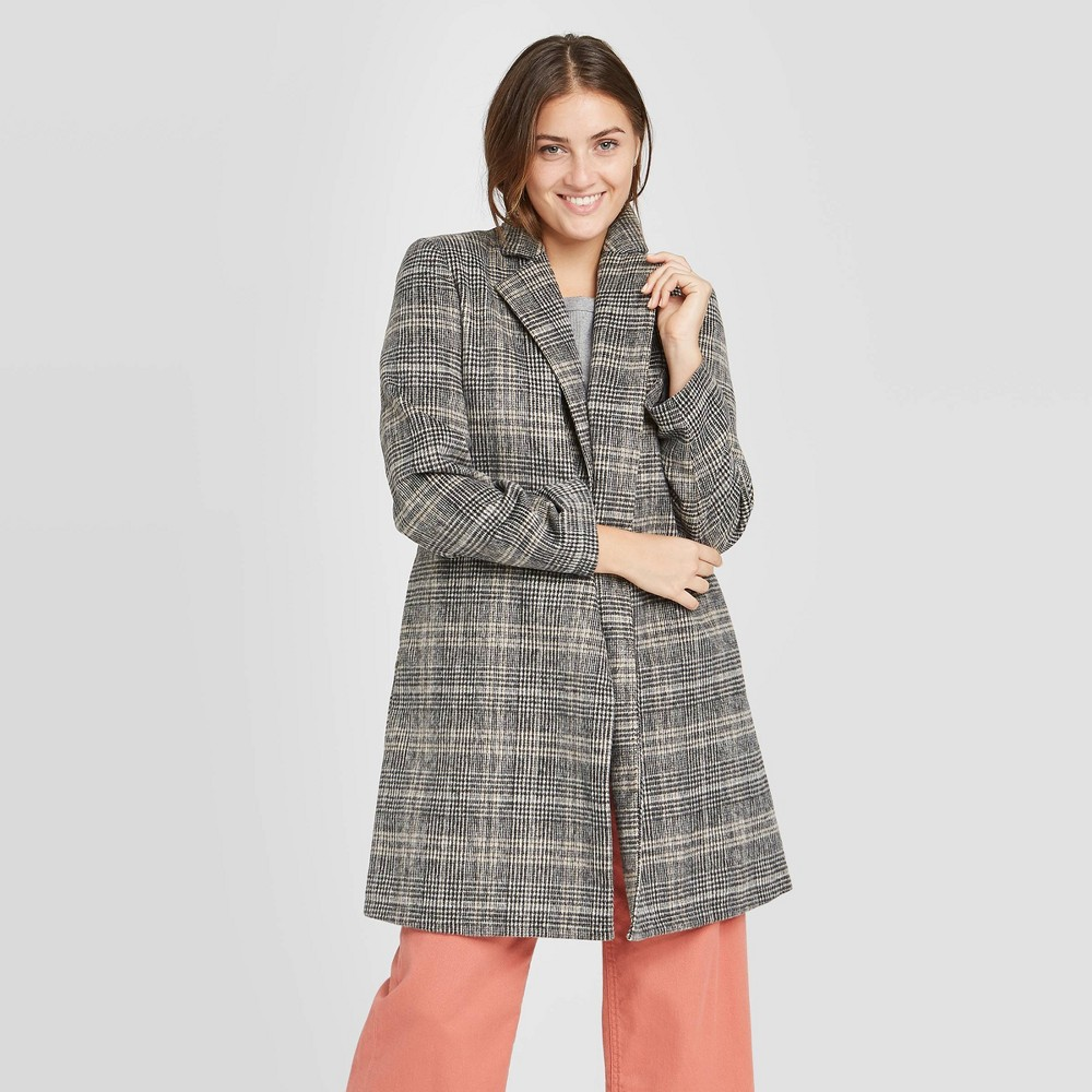 Cheap Women' Plaid Overcoat - A New Day™