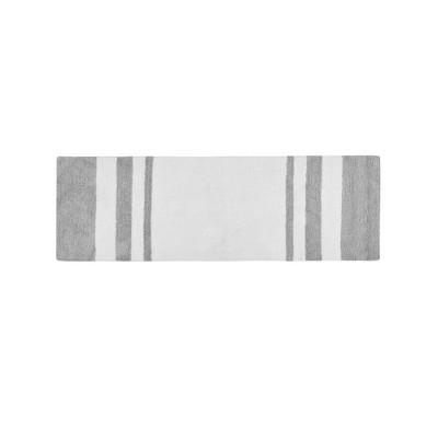 Spa Cotton Reversible Bath Rug Gray 24 x72