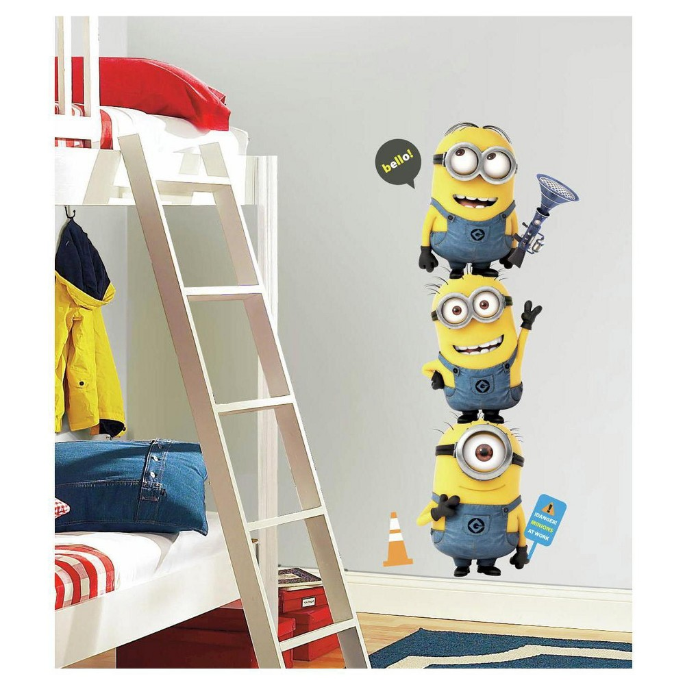 Image of RoomMates Despicable Me 2 Minions Giant Peel and Stick Giant Wall Decals