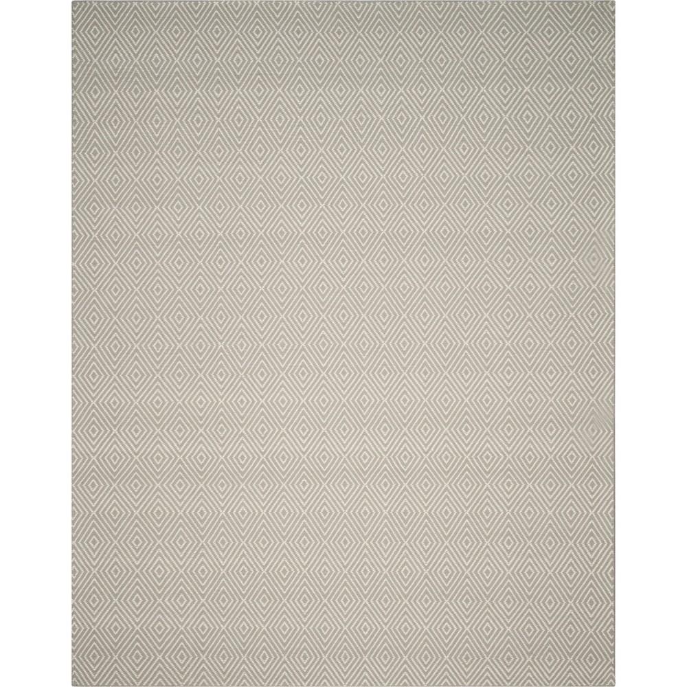 9'X12' Solid Hooked Area Rug Light Gray/Ivory - Safavieh
