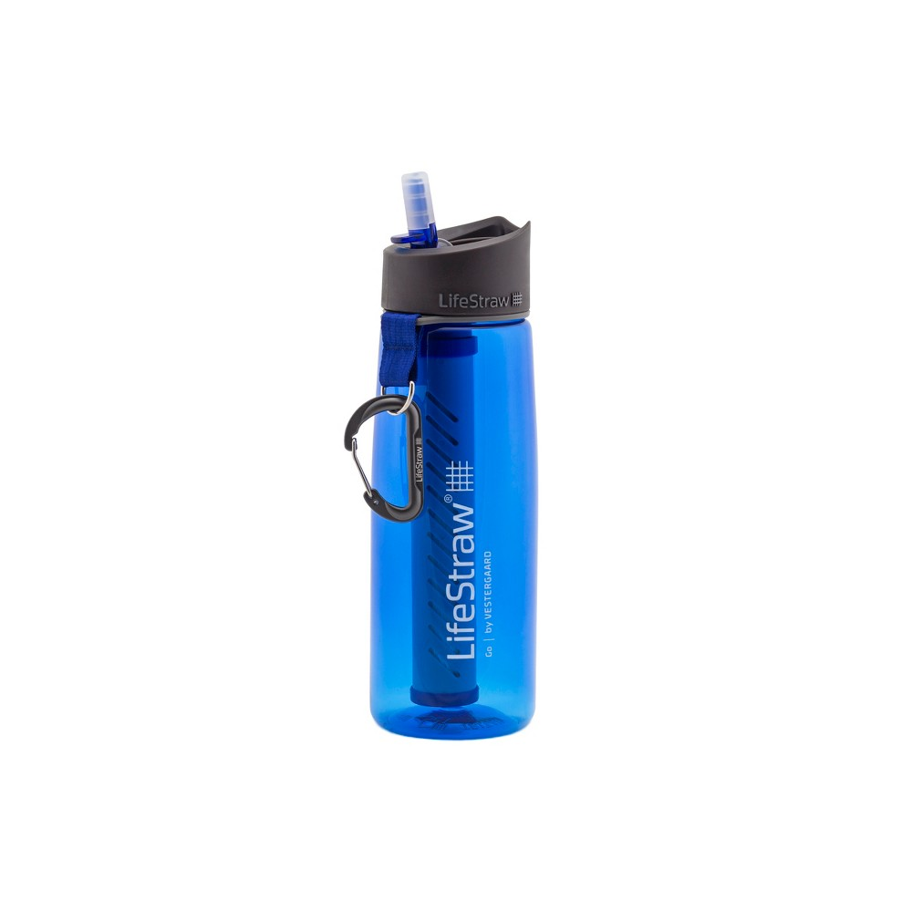 Image of LifeStraw Go Advanced 2-Stage Water Filter Bottle - Blue