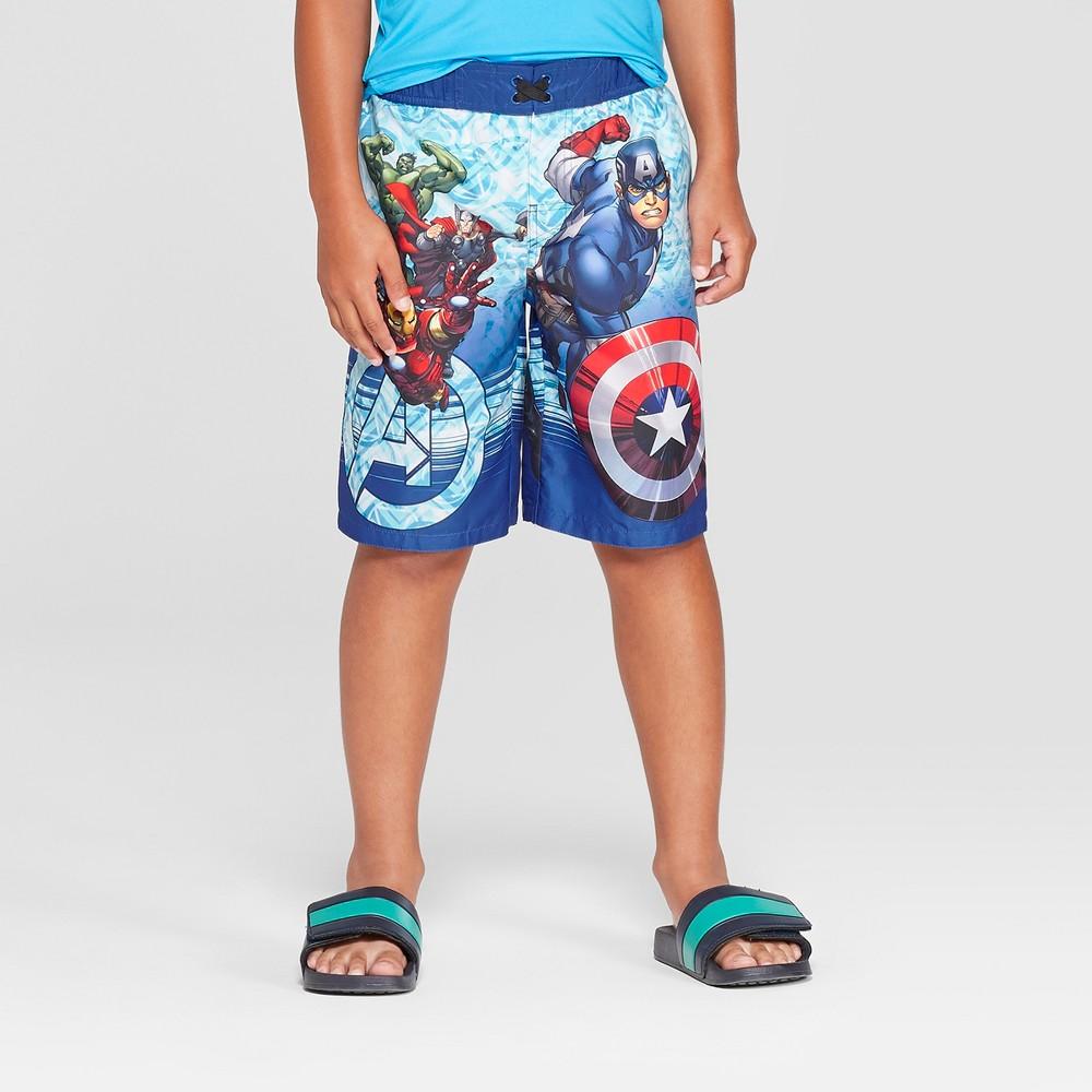 Boys' Avengers Swim Trunks - Blue XS
