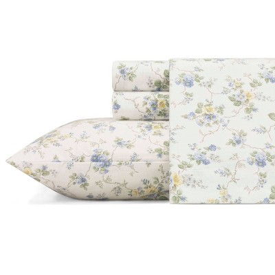 Printed Pattern Flannel Sheet Set - Laura Ashley