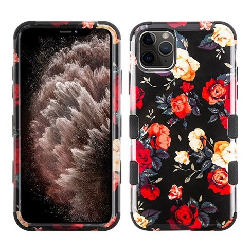Insten Tuff Roses Hard Dual Layer Plastic TPU Case For Apple iPhone 11 Pro Max - Black/Red - image 1 of 4
