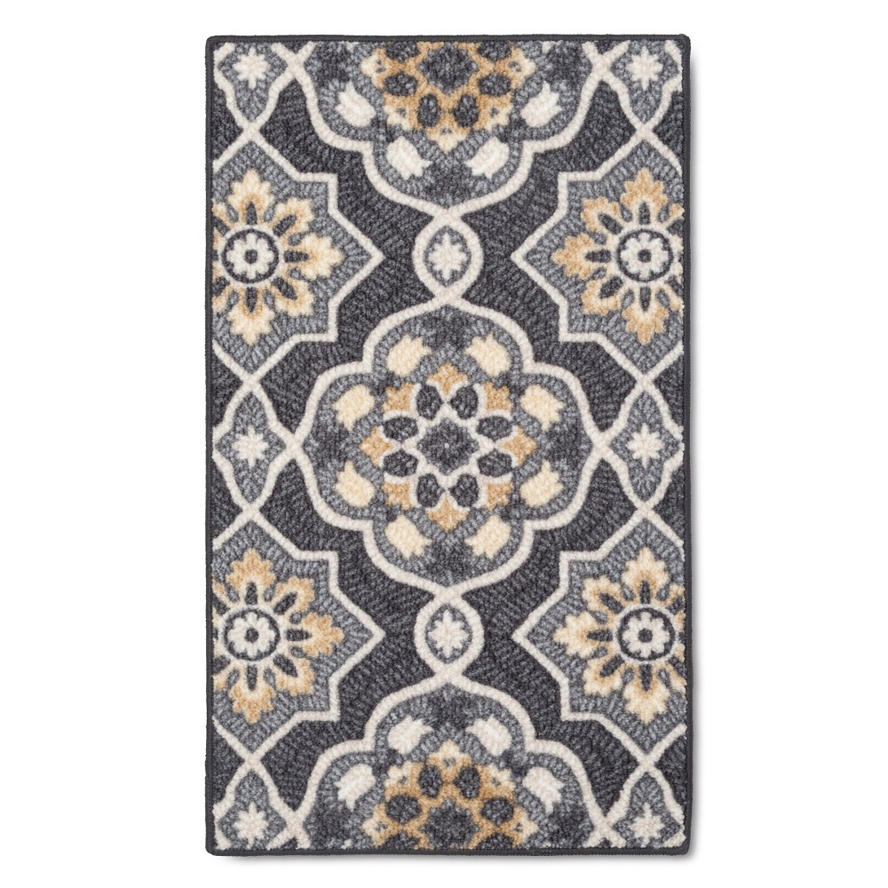 """Image of """"1'8""""""""X2'10"""""""" Maples Rugs Rowena Accent Rug, Gray"""""""