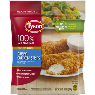 Tyson All Natural Crispy Chicken Strips - Frozen - 25oz