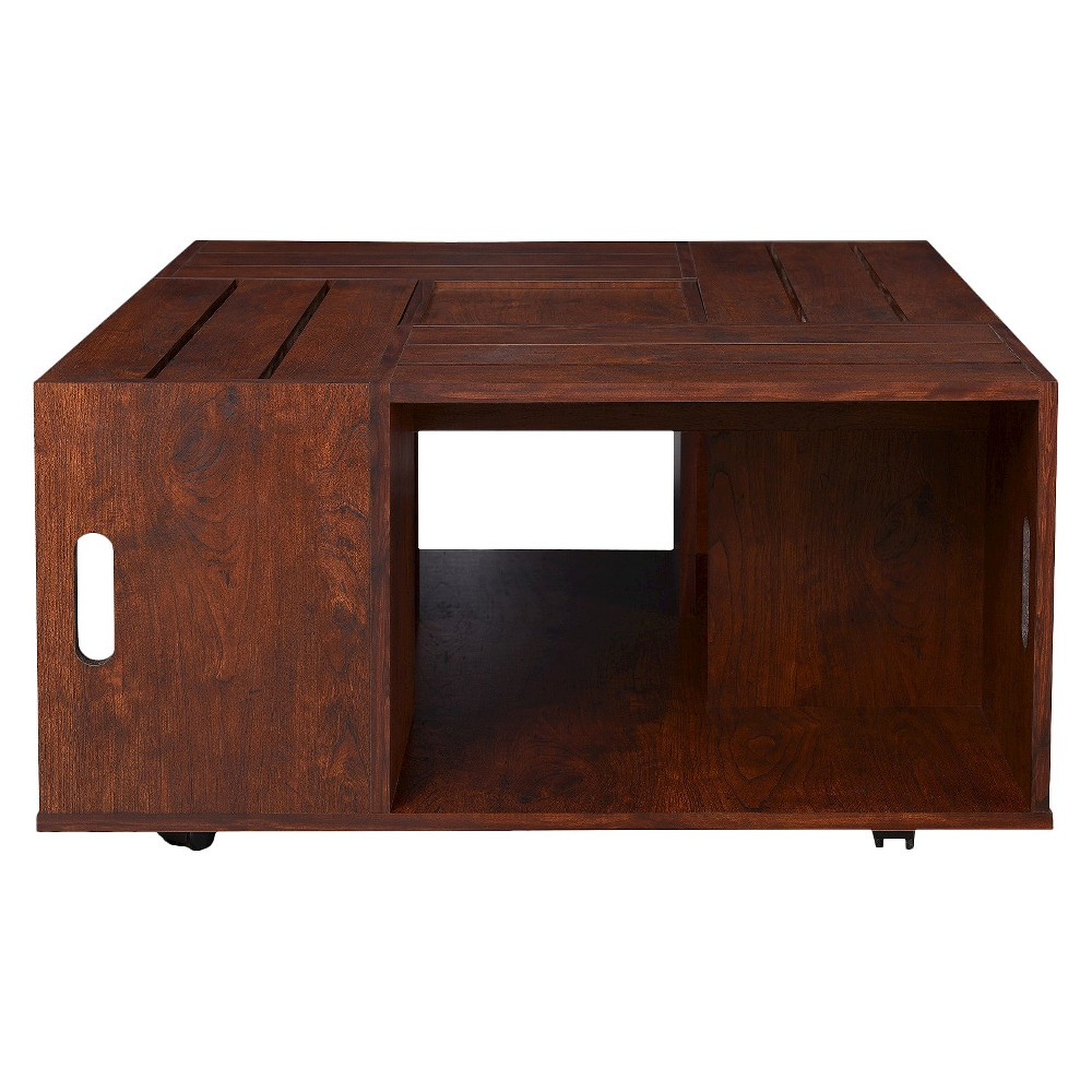 Eugene Coffee Table Walnut - Homes: Inside + Out, Canyon Brown