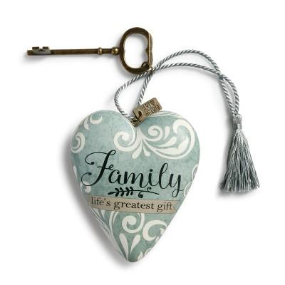 DEMDACO Family Life's Greatest Gift Art Heart 4 x 3 - Blue