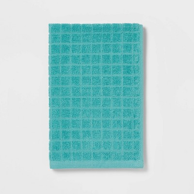 Grid Texture Hand Towel Turquoise - Room Essentials™
