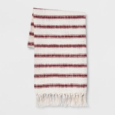 Stripe Throw Blanket With Tassels 50 X60  Orange - Threshold™