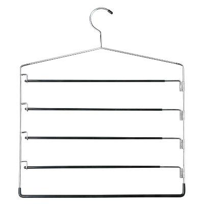 5-Tier Swinging Arm Pant Rack - Chrome/Black (2pk)