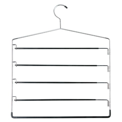5-Tier Swinging Arm Pant Rack - Chrome/Black (2pk) - image 1 of 1
