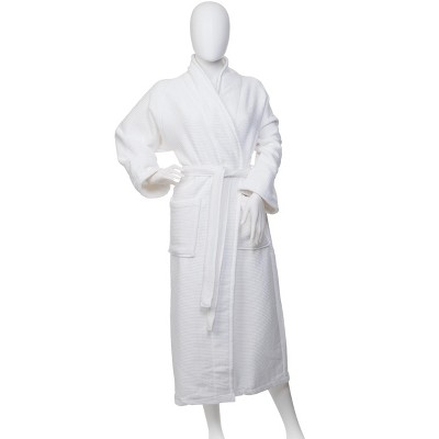 Large,White Blue Nile Mills Long-Staple Cotton Unisex Kids Hooded Bath Robe