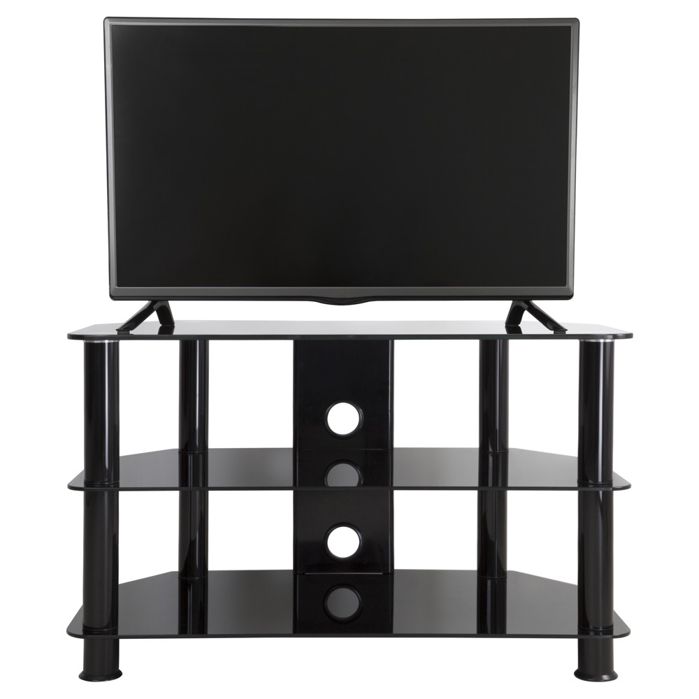 """Image of """"42"""""""" TV Stand with Cable Management - Black"""""""