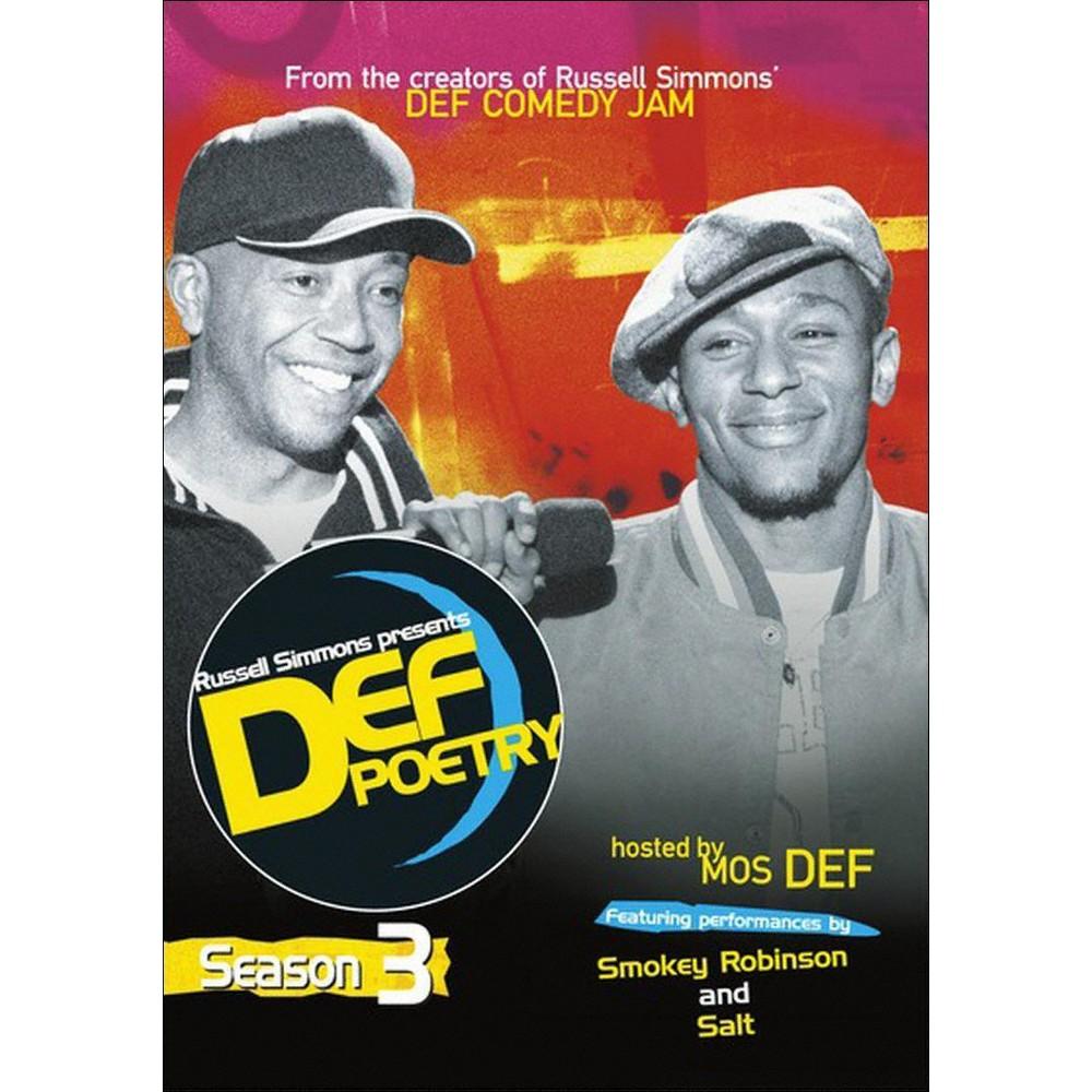 Def Poetry Season 3 Dvd 2013