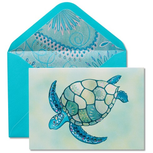 Papyrus Mosaic Turtle Blank Card - image 1 of 3