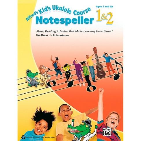 Alfred Alfred's Kid's Ukulele Course Notespeller 1 & 2 Book - image 1 of 1